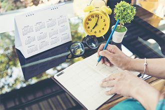 2018 Calendar Event Planner is busy. Businesswoman always Planning Agenda and Schedule using calendar,clock to set timetable organize schedule. Woman hands writing on Fashion Agenda. Timeline concept; Shutterstock ID 578807725